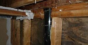 Water and Mold Damage Restoration Conducted On Joists And Piping